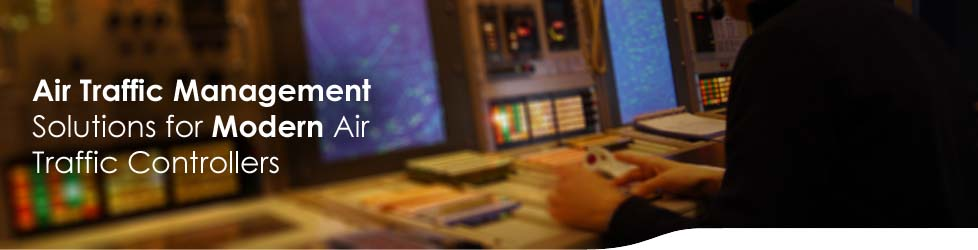 An air traffic control radar room clears flights to land